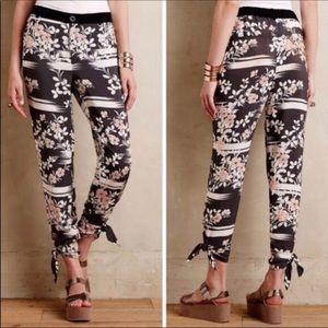 Anthropologie Elevenses ankle pants, loose ,floral
